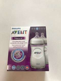 Avent Natural 1m+ Feeding Bottle Twin Pack