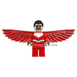 🚚 [Unicque] Lego Marvel Super Heroes Minifigure - Falcon (Red) #caroupay