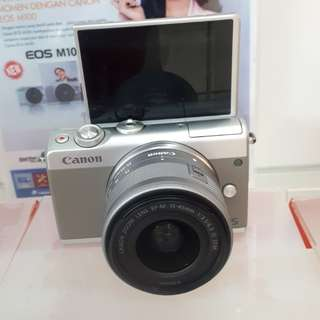 Kamera Canon Eos M100 New Mirrorless (Kredit MURAH)