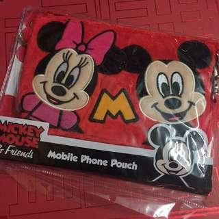 Disney Mickey Minnie phone pouch 米奇 米妮 多用途 袋