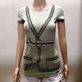 Miu Miu Green Strechable Shirt