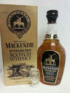 Mackenzie 20 Years Old Scotch Whisky 麥肯思20年威士忌 750ml