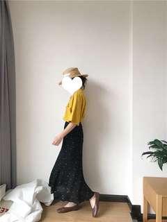 🚚 雪紡點點長裙