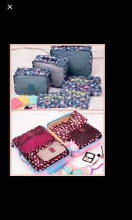 Travel Set 6 in 1 Laundry Pouch ( Cute Prints)