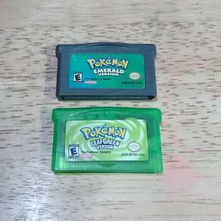 Pokemon emerald and leaf green