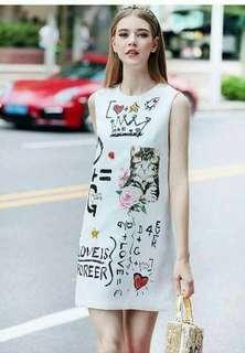 Dress-Cat print 👗