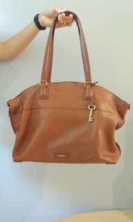 FOSSIL Handbag Julia Shopper Cognac (💯% Authentic)