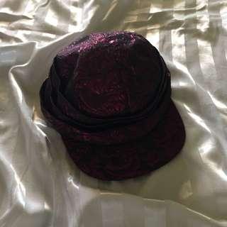 Black and pink cap
