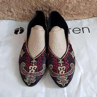 Sepatu Kain Ori Thailand Motif Gajah size 40