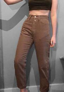 PRICE DROP!!Brand new Tan High waisted replay trousers/jeans.