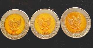 Koin Rp.1000 Tahun 1996&1995
