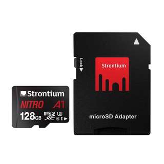 Strontium Nitro Micro SDXC A1 UHS-1 U3 128GB with SD Adapter 100mb/s SRN128GTFU3A1A