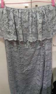 Off shoulder Laced Dress