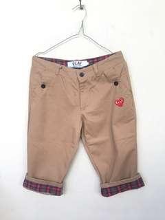 #mausupreme Celana CDG Short pants Checkerboard