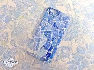 全新 小清新 藍白漂染iphone6 手機殼case