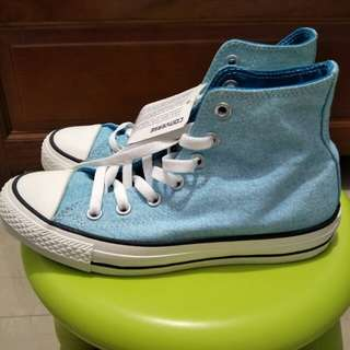 🚚 Converse帆布鞋-螢光藍 6.5號