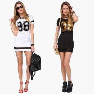 (309)1PC Women Summer Casual Short Sleeve 98 Printed Lady Slim Sexy Dress Fashion