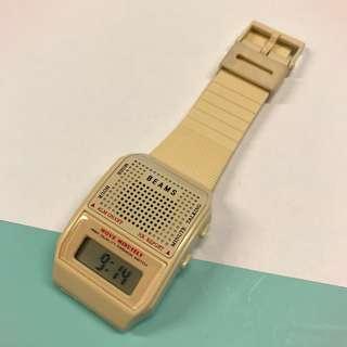 絕版Beams x Milk 玩味日文女聲報時手錶