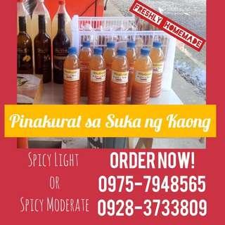 Pinakurat Suka ng Kaong (Spicy Light)