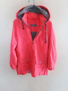 Jacket with hoodie stabilo pink