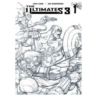The Ultimates 3 #1 (B&W Sketch variant With Joe Mad signature)