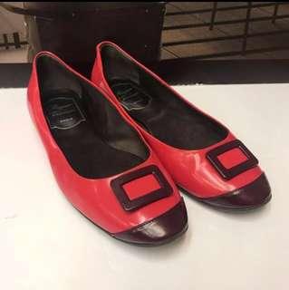 🈹Roger Vivier Size 34 Patent Leather Flat Shoes