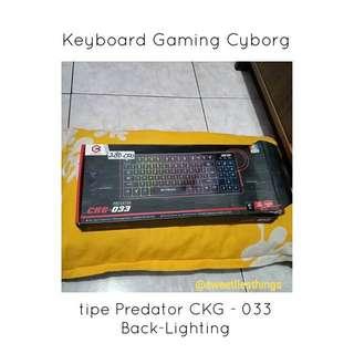 Keyboard Gaming Cyborg Tipe Predator CKG - 033