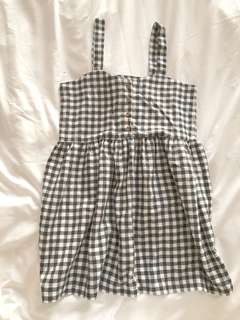 Gingham button up dress from Korea
