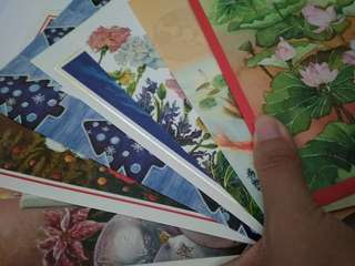 Postcards and envelopes