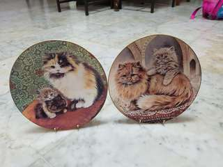 Cats picture display plates