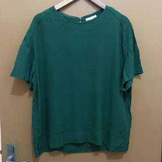 H&M Green Crepe Shirt