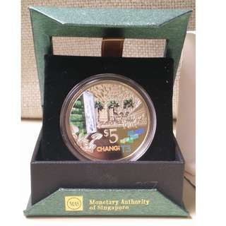 🚚 2008 SG Changi Airport Terminal 3 $5 Commemorative Cupro-Nickel Proof-Like Coin