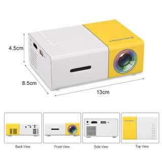 SM YG300 Mini Projector LED | Proyektor | Projektor 1080p FULL HD - Yellow White