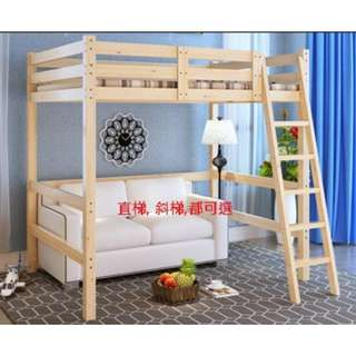 實木 高架床 單人床 雙人床 實木床 170301 180601r2