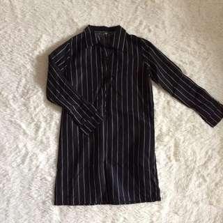 GSS | STRIPED SHIFT DRESS