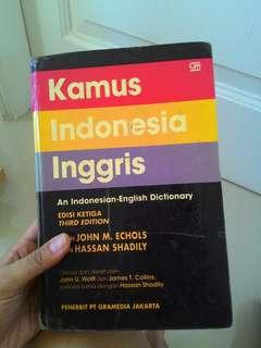 Buku Kamus English~Indonesia