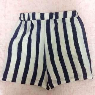 高腰條紋短褲(有內裏)