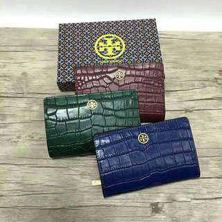 TORYBURCH parker embossed medium slim wallet