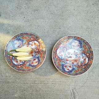 🚚 【LoveloVe】日本早期伊萬里花卉小皿碟盤x2