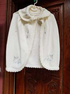 White wool cape