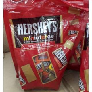 Hersheys miniatures specially dark pack