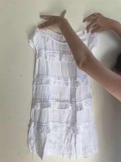 ZARA KIDS white dress