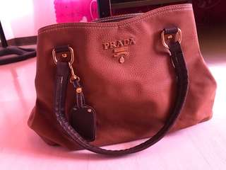 FOR SALE! ORIGINAL PRADA Leather BAG (color brown) used but not abused. just pm me if your interested.