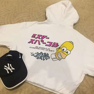 Cotton On The Simpson's crop hoodie