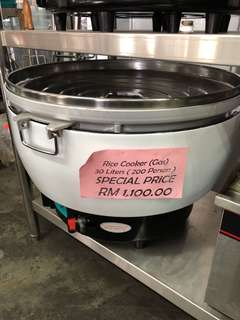 Gas Rice Cooker 30Liter 200 person