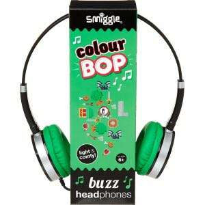 Smiggle Color Bop Buzz Headphones (Green+Black)