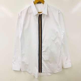 Men Dior Homme white with stripes shirt size XL