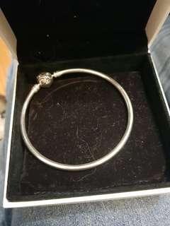 Pandora Silver Bangel Bracelet 17cm