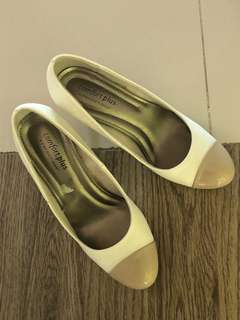 Payless: White 2 inches heels