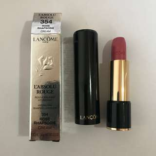 Lancôme lipstick L'absolu Rouge Rose Rhapsodie 354